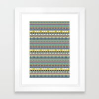 Berlin pattern Framed Art Print