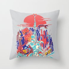 Smash! Zap!! Zooom!! - Generic Spacecraft Throw Pillow
