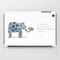 polka dot elephants serving us pie iPad Case
