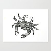 Crab Three Canvas Print