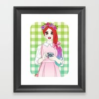 Pretty as a Picture Framed Art Print