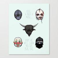 American Horror Masks Canvas Print