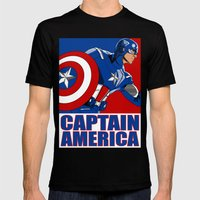 Captain 'merica Mens Fitted Tee Black SMALL