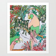 Paradise Pink Art Print
