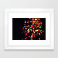Rainbow Stars Framed Art Print