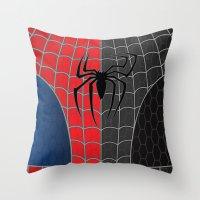 Spider-Man Red/Black Throw Pillow