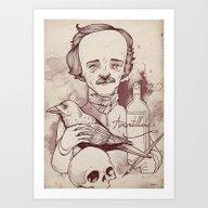 Art Print featuring Poe by Hatrobot
