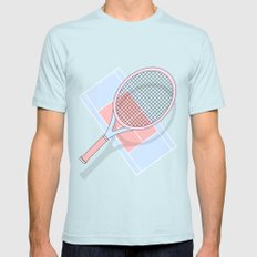 Hold my tennis racket Mens Fitted Tee Light Blue SMALL