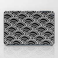 Waves All Over - White O… iPad Case