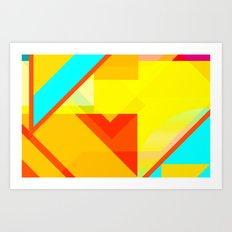 bipolar yellow Art Print