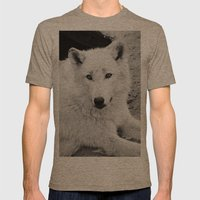 WHITE WOLF Mens Fitted Tee Tri-Coffee SMALL