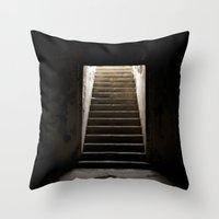 Stairs of Light Throw Pillow