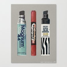 Markers: Magnum + Sakura + Pilot Canvas Print