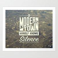 The Modern Town Art Print