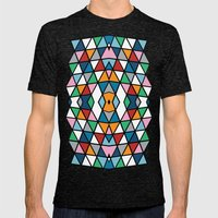 Geo Outline Colour Mens Fitted Tee Tri-Black SMALL