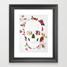 Skull Grunge Flower 2 Framed Art Print