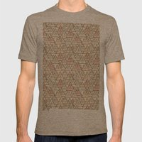 Pattern Houses Mens Fitted Tee Tri-Coffee SMALL