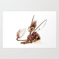 Robot Dragon Art Print