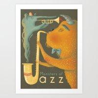 Monsters of Jazz Art Print