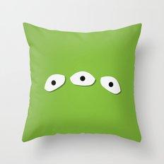 Alien Eyes Throw Pillow