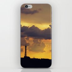 Sunset over Paris iPhone & iPod Skin
