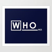 WHO MD Art Print