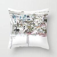 Throw Pillow featuring take a breath [ABSTRACT]  by David Nuh Omar
