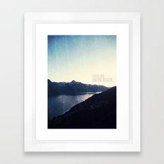 Think Big, Dream BIGGER Framed Art Print