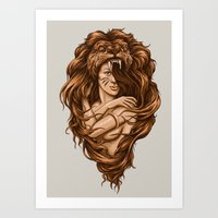 Lion Queen Art Print