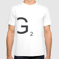 Scrabble G Mens Fitted Tee SMALL White
