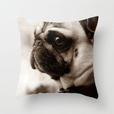 PUG - SEPIA Throw Pillow