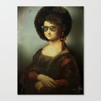 Mona Lisa Boogie Canvas Print