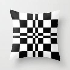 Intersections Black and White Throw Pillow