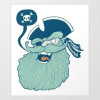 Pirate Material Art Print
