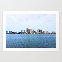City Of Boston Whole Vie… Art Print