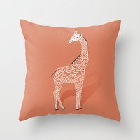 Animal Kingdom: Giraffe … Throw Pillow