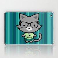 I Heart Nerds Kitty Laptop & iPad Skin