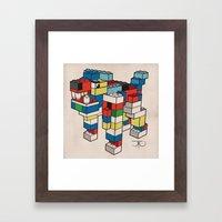 Block Hound Framed Art Print