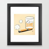 Cigar And Booze Framed Art Print
