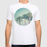 Palms Mens Fitted Tee Ash Grey SMALL