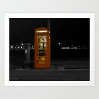 British telephone Box Art Print