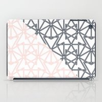 Black and Pink Crop Symmetry iPad Case