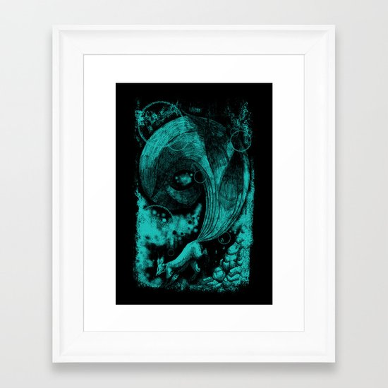 9 tails Framed Art Print