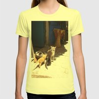 What´s the new, pussycat? Womens Fitted Tee Lemon SMALL