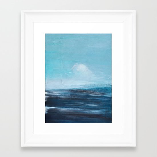 abstract surreal seascape Framed Art Print