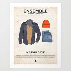 Ensemble - Marvin Gaye Art Print