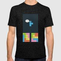 Tetris Mens Fitted Tee Tri-Black SMALL