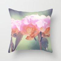 Pink Peony 8 Throw Pillow