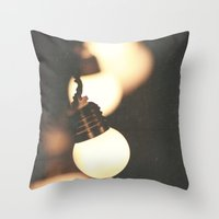 Throw Pillow featuring Lights by Whitney Retter