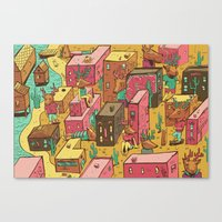 Deertown Canvas Print